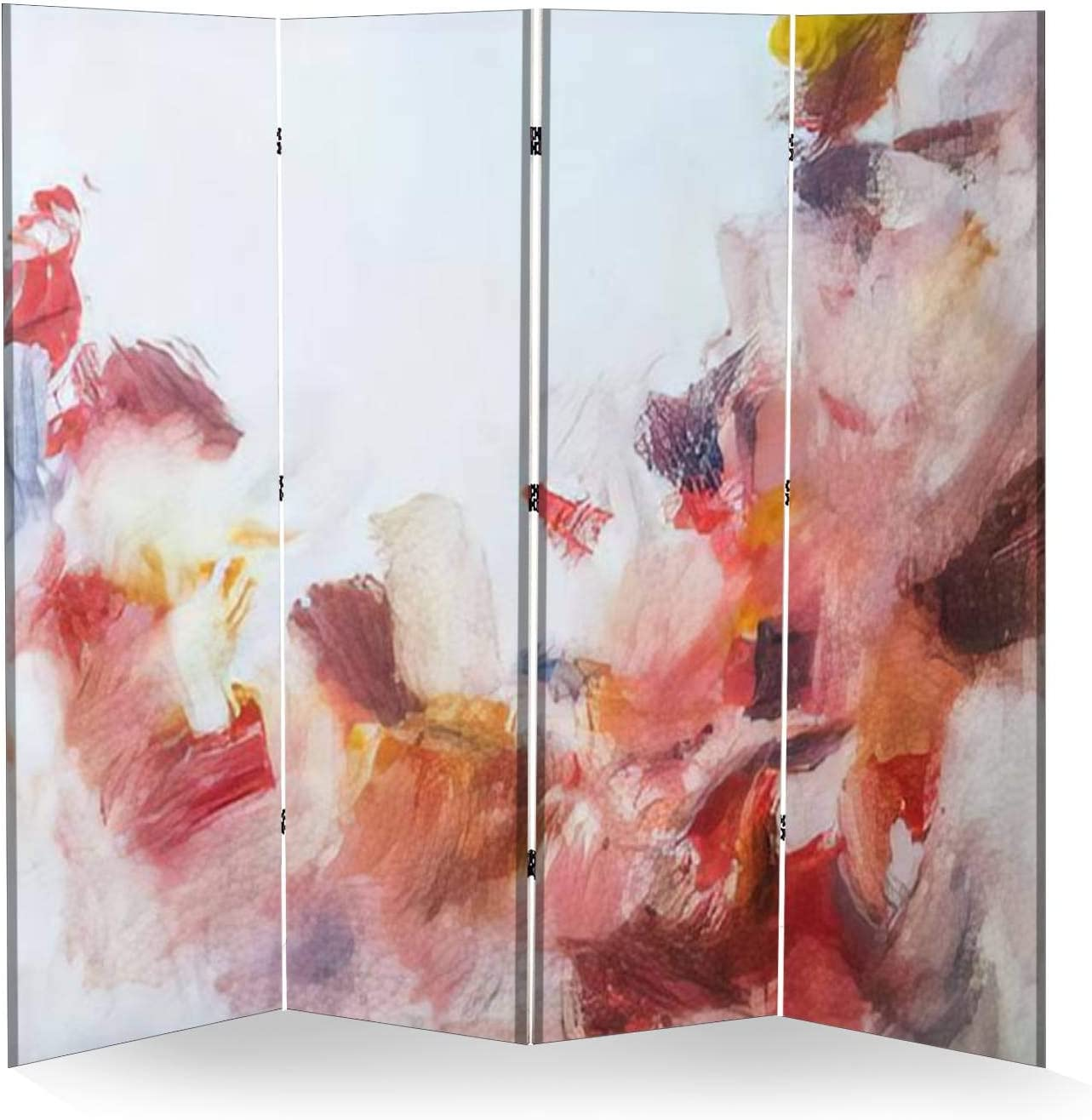 Discount mail order 4 Panel Wall Divider service Flowers Texture Painting Abstract