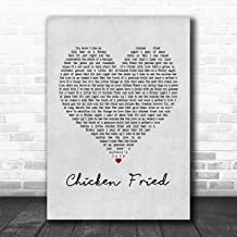 Chicken Fried Grey Heart Song Lyric Quote Music Poster Gift Present Art Print