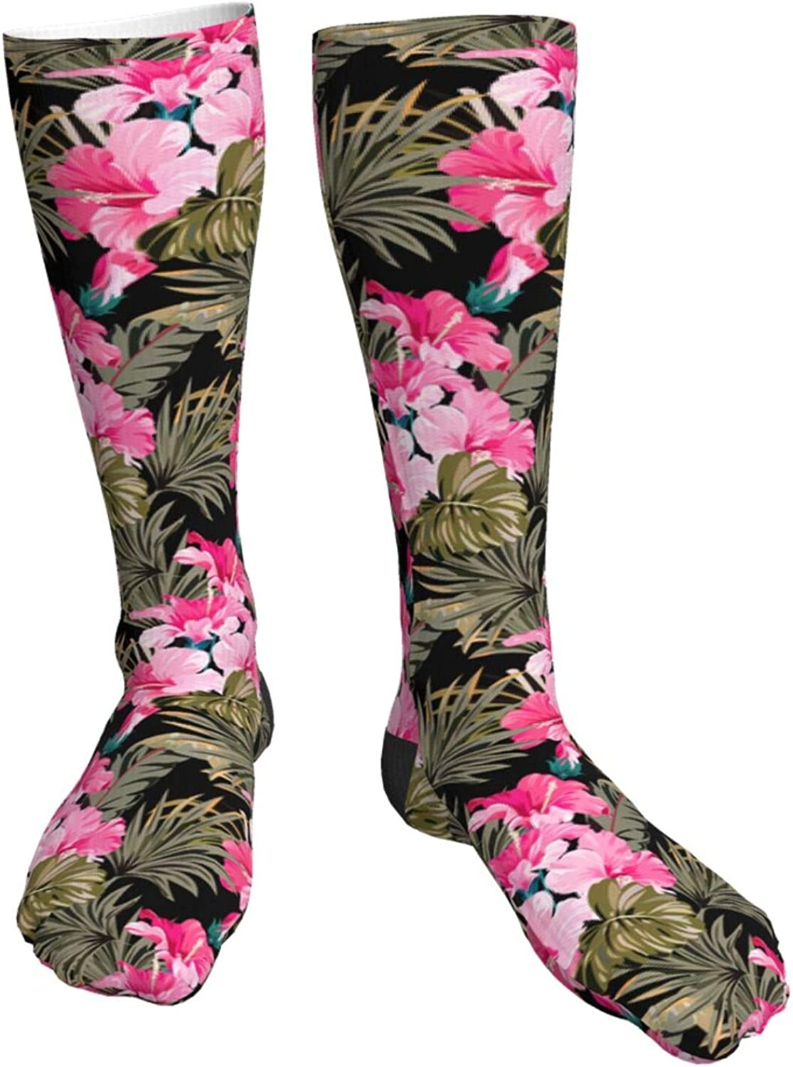 Watercolor Zebra Novelty Crazy Crew F Knee High Max 55% sold out OFF Socks Tube
