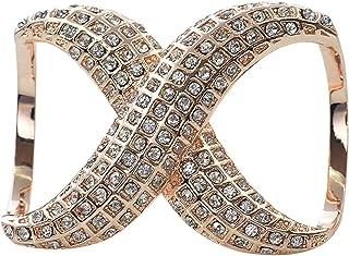 dd7aa8efe87e9 keland Le Foulard en Soie élégant en Faux Diamant pour Femme Pince Le  Support de Boucle