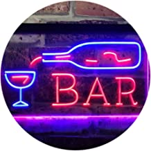 Bar Bottle Glass Display Open Home Decoration Dual Color LED Neon Sign Blue & Red 400 x 300mm st6s43-i3182-br