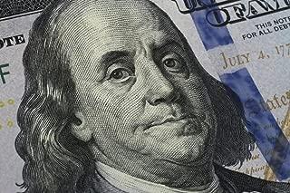 Closeup Benjamin Franklin One Hundred Dollar Bill Photo Photograph Cool Wall Decor Art Print Poster 36x24