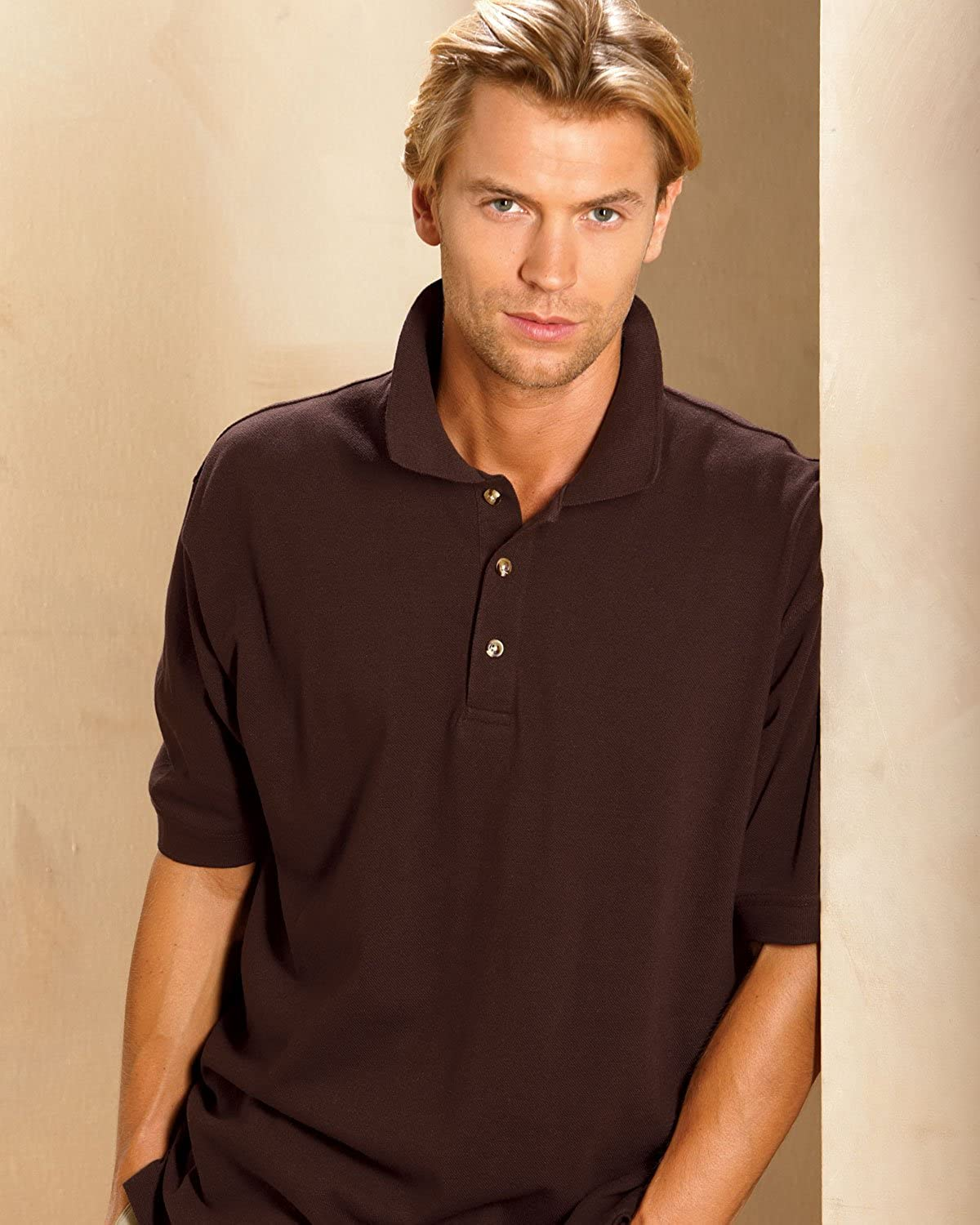 ULTRACLUB Adult Tall Classic Pique Polo>XLT Navy 8535T