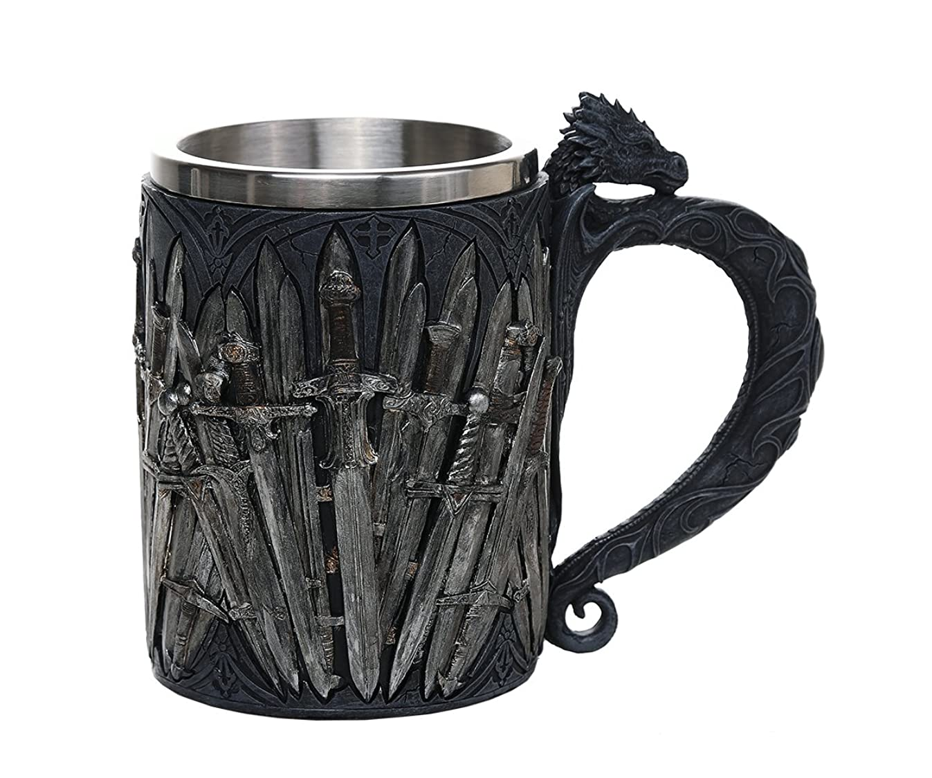 Pacific Giftware Legends of The Swords Game of Sword Thrones Dragon Mug Tankard 13oz