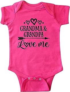 Grandma Grandpa Love Me Arrow Infant Creeper