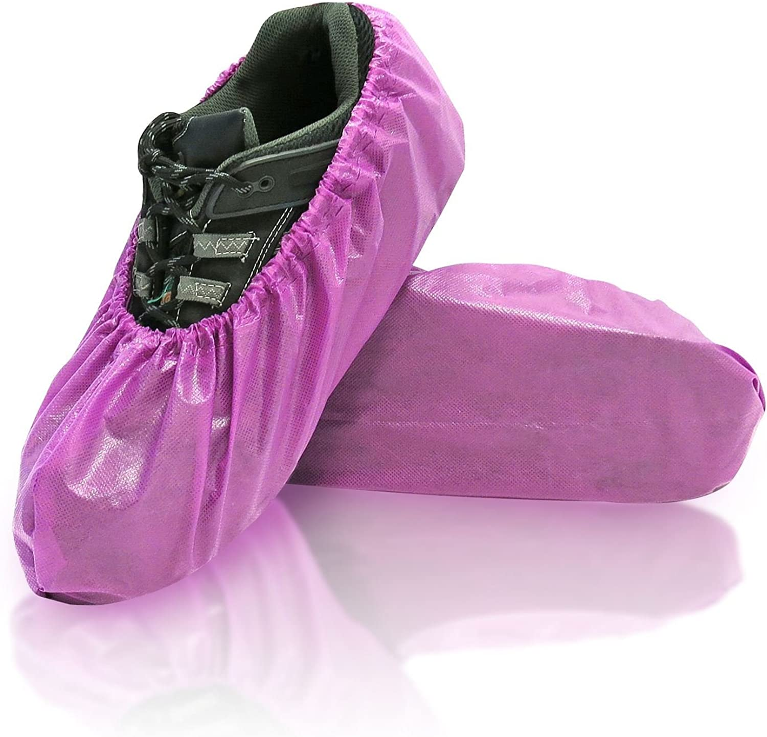 blueeMed SHS-1417-C Lilly Disposable shoes Covers, Polypropylene and polyethylene Fabric, Universal, 6.89  x 16.54 , Purple (Pack of 300)