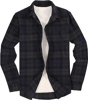 men's button down collar flannel shirts