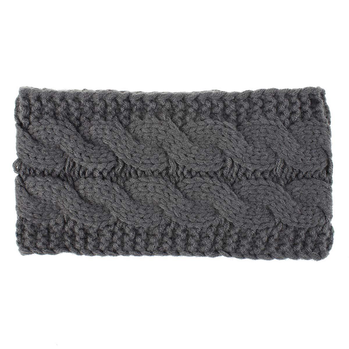 HelloCreate Women Wool Knitted Headband. Women Knit Ear Warmer Headband Winter Warm Fleece Lined Headwrap