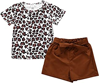Toddler Baby Girl Outfits Clothes Baseball Sister Print Short Sleeve T-Shirt Tops + Tassel Floral Short Pant Set
