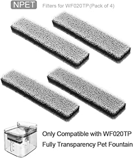 NPET Cat Dog Water Fountain (Replacement Filters for WF020TP)