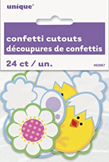Paper Confetti Cutout Easter Decorations, Assorted 24ct