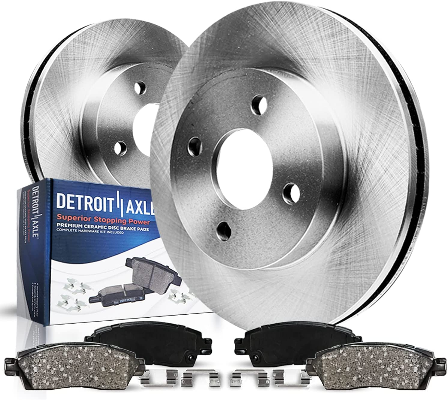 Detroit Axle - Front Disc Rotors Brake Tulsa Regular dealer Mall + for 20 Replacement Pads