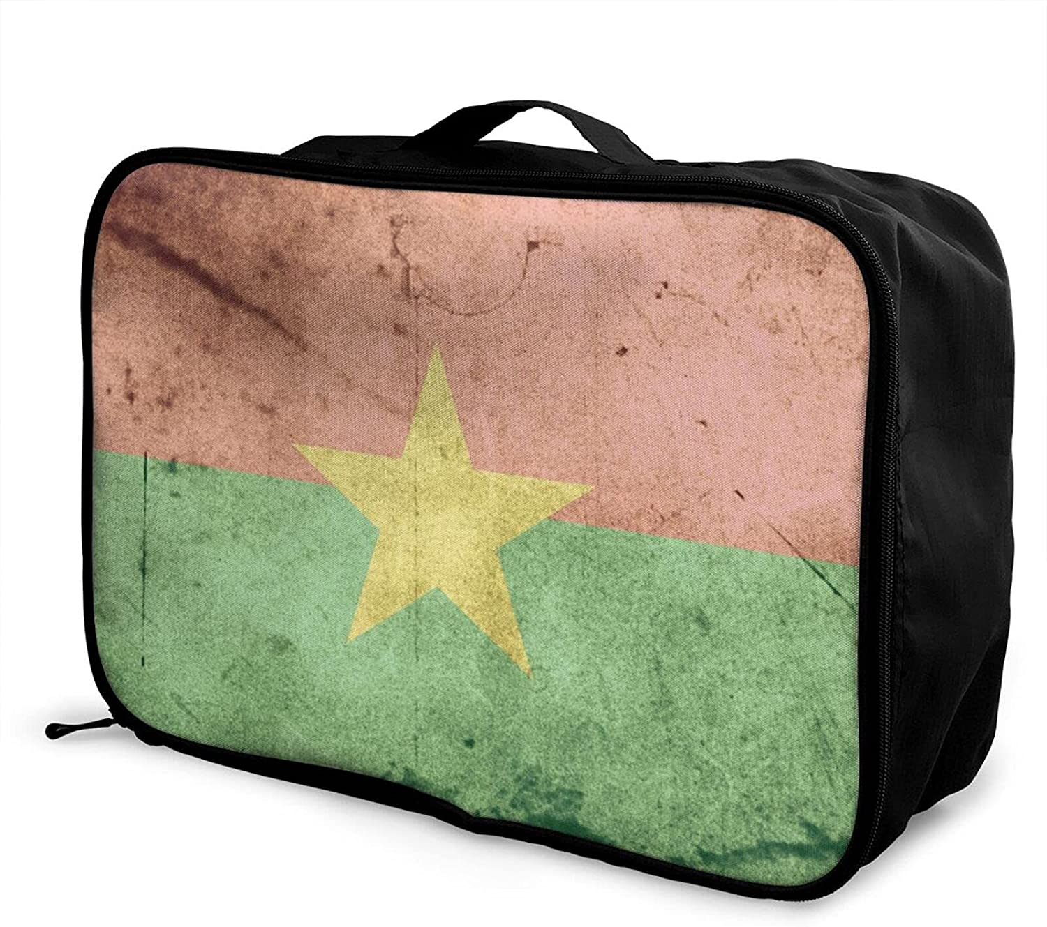 Foldable Travel Bag Tote Vintage Faso Carry-On High material online shopping Flag Burkina