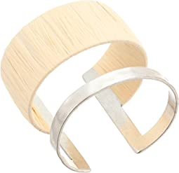 Raffia Wrapped Cuff Bracelet