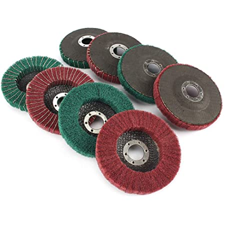 4-12 Inch Non-woven Abrasive Grinding Flap Wheel Nylon Fiber Flap Polishing Disc