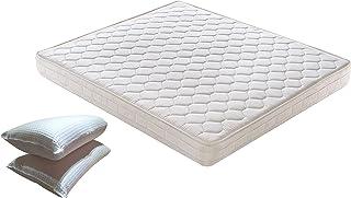 Colchón de matrimonio ortopédico Whaterfoam de 160 x 190 x 16 cm reales + par de almohadas de fibra 3D