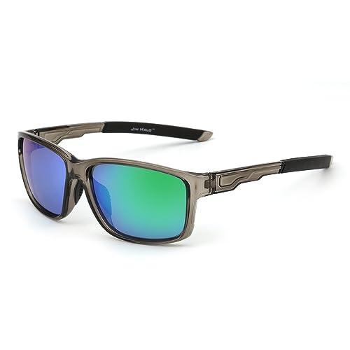1593ef5ca4 Polarized Sports Sunglasses Mirror Wrap Around Driving Fishing Men Women
