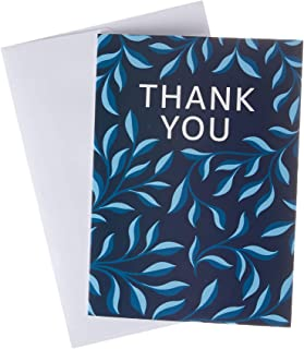 Amazon.com.au Gift Card for Custom Amount in a Thank You Navy Leaves Greeting Card