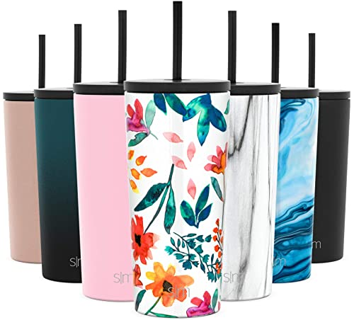 Simple Modern Classic Insulated Tumbler with Straw and Flip Lid