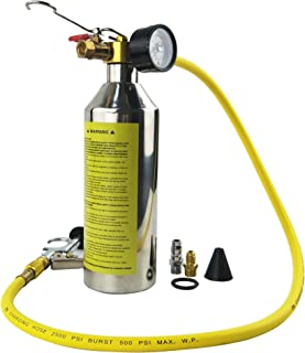 Wisepick AC Air Conditioning Flush Set Canister Gun Clean Tool Kit for R134a 1000ML 1/4SAE 1/4NPT