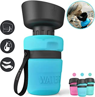 lesotc Pet Water Bottle for Dogs, Dog Water Bottle Foldable, Dog Travel Water Bottle, Dog Water Dispenser, Lightweight & Convenient for Travel BPA Free 18 OZ.