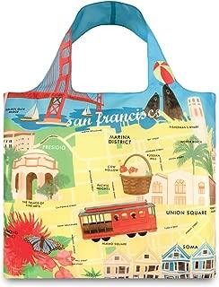 LOQI Urban San Francisco Reusable Shopping Bag, Multicolored