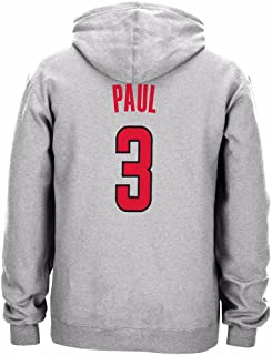 adidas Chris Paul Los Angeles Clippers NBA Grey Player Name & Numer Fleece Hoodie for Men