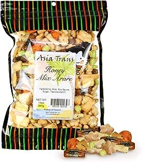 Asia Trans Honey Mixed Arare - Sweet and Salty Assorted Nori Komaki, Sakura, Kakinotane Rice Crackers - Crunchy Japanese Snack, Hawaiian Kaki Mochi - Great with Popcorn, Trail Mix, Beer - 12 Oz Pack