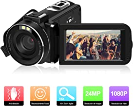 ODLICNO Cámara de Video, Videocámara Portátil Full HD