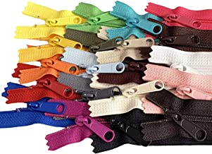 20pcs Mixed Colors Ykk Number 4.5 Coil Handbag Zipper or Purse Zippers Long Pull Made in USA Pack Vinyl Bag (30 inches)