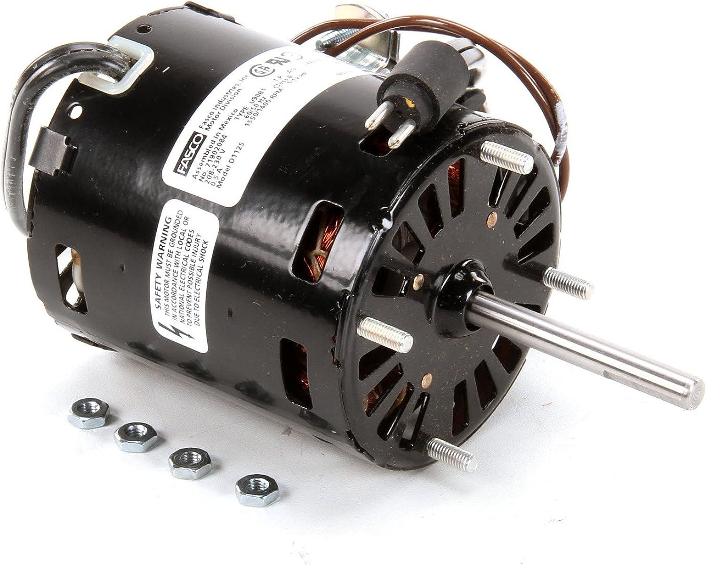 Fasco D1125 3.3  Diameter PSC Motor, 1 12 HP, 208-230V, 1500 RPM, 1 Speed, 0.4 Amp, CCW redation, Sleeve Bearing