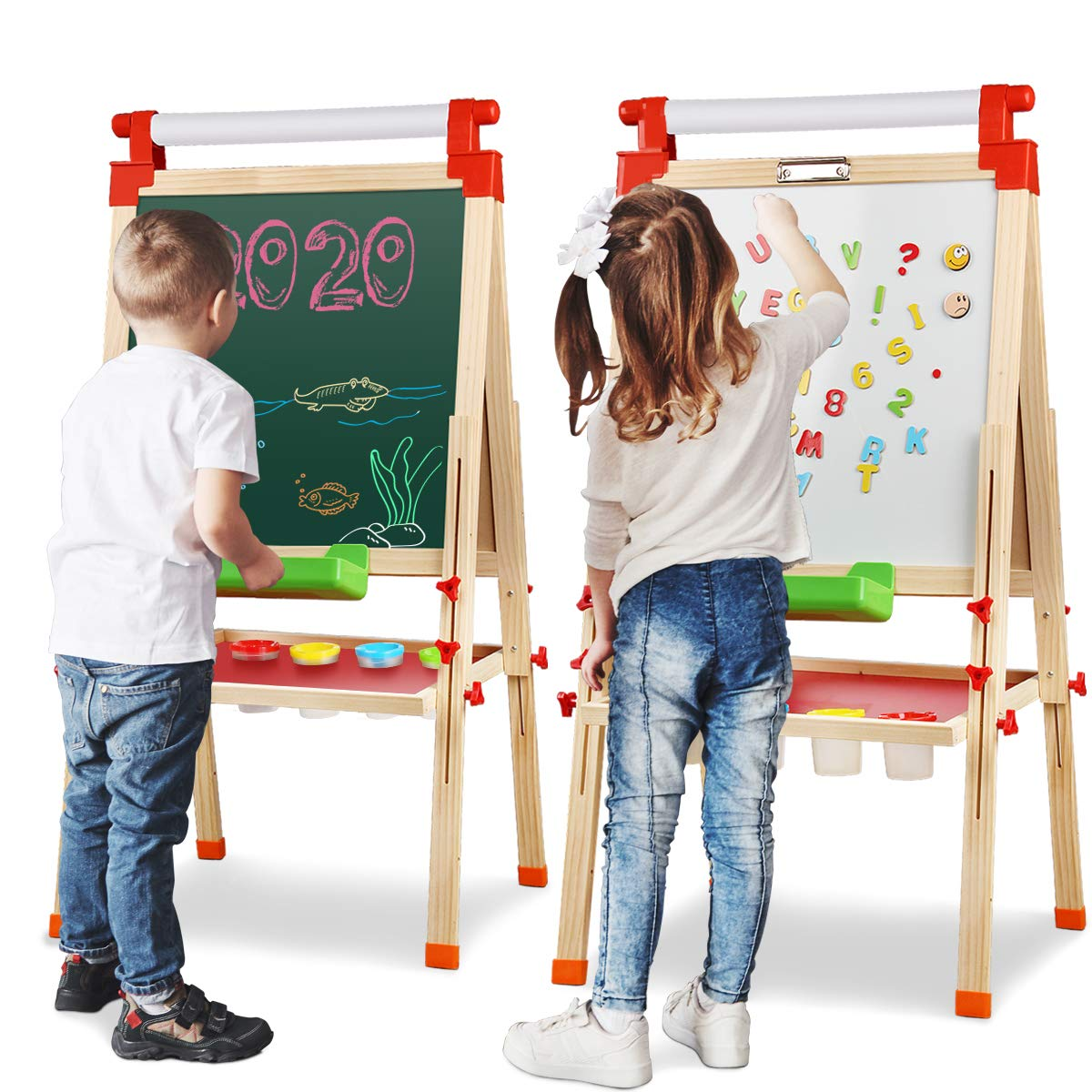 Joyooss Kids Wooden Easel Paper