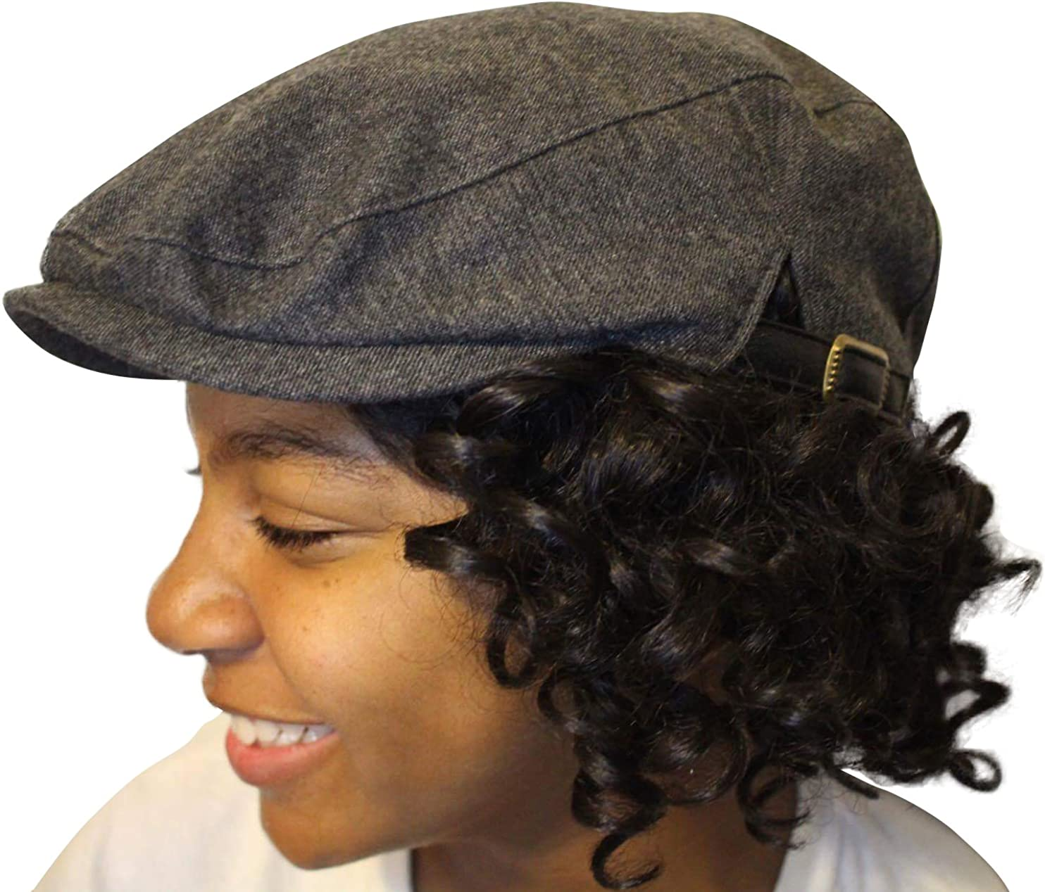 Satin-Lined Newsboy Hat 2021 spring and Large discharge sale summer new with Adjustable Buckles Classic Side Fa
