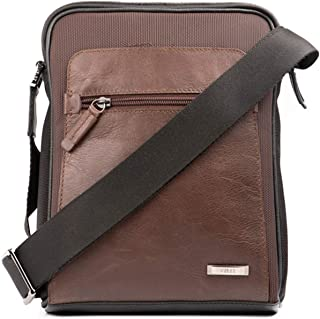 VÉLEZ Men Genuine Leather Crossbody Bag | Bandolera De Cuero Bicolor