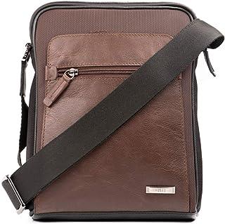 VÉLEZ Men Genuine Leather Crossbody Bag | Bandolera De Cuero Bicolor