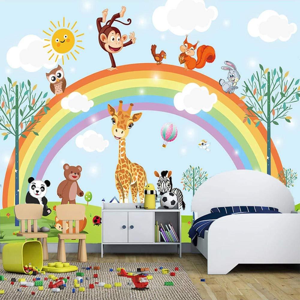 Awttmua 3D Hand New York Mall Painted Cartoon Animal High material Kindergarten Rainbow Chil
