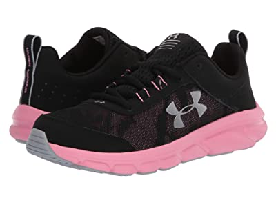 Under Armour Kids UA Assert 8 (Big Kid) (Black/Lipstick/Metallic Silver) Girls Shoes