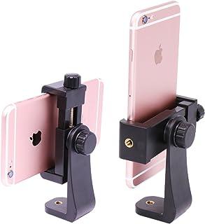Ulanzi Phone Tripod Mount Adapter/Vertical Bracket Smartphone Holder/Cell Phone Clip Clipper Sidekick 360 Degree Smartphon...