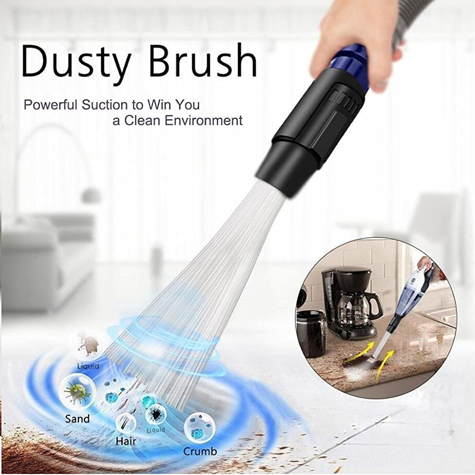 IELEK Dust Brush Cleaner Universal Vacuum Attachment Dirt Remover Interface Cleaning Tool Fit for Air Vents Keyboards Drawers Car Tools Crafts Jewelry Pets Plants