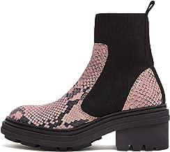 Bimba y Lola Pink leather elastic ankle boot 192BZ0655