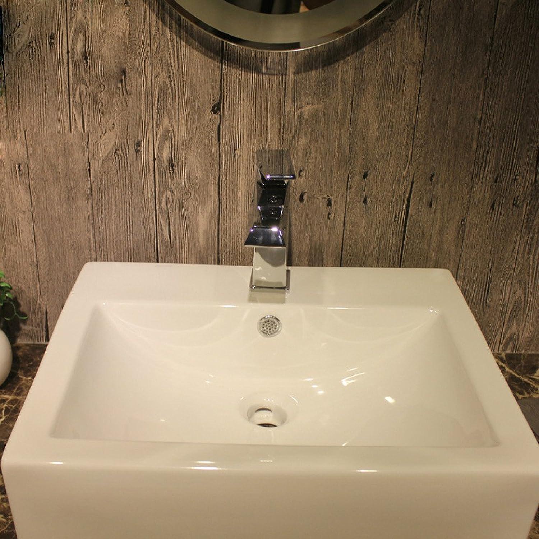 Wasserhahn küche mit herausziehbarer Dual-Spülbrause,Kaltes und Heies Wasser Vorhanden Messing verchromt Robinet de lavabo carré chaud et froid en cuivre monotrou, robinet de salle de bain cuisine