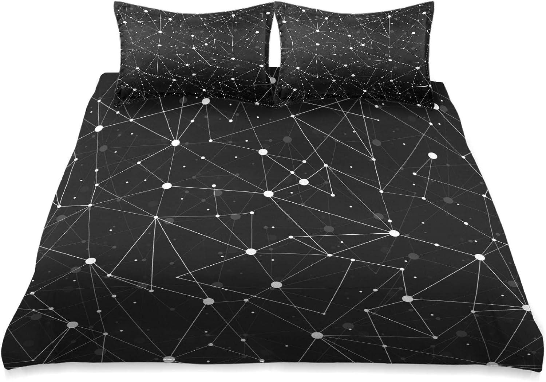 CCDMJ Galaxy Abstract Geometry Bedding 3 Zipper depot Piece Queen Set Detroit Mall