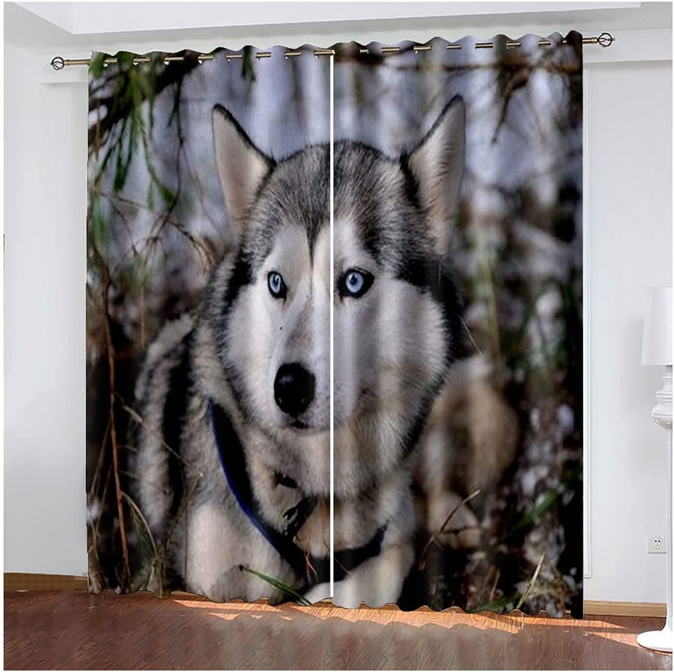 Drapes for Bedroom 2 Panels Windo Blackout Dog 35% OFF Curtains Max 75% OFF