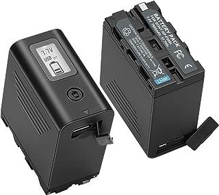 NP-F970バッテリー 7800mAh 2個セット KUNLUN NP-F980/F970/F960/F950/F330/F530/F550/F570/F730/F750/F770/F930/F990バッテリー対応機種 HDR-FX1/HV...