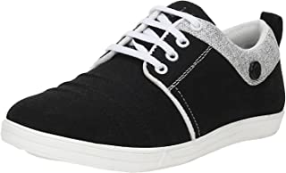 Emosis by Urban Whiz Men's 411 Blue Black Brown Colour Office Canvas Casual Slip-On Loafer Sneaker Moccasin Shoe