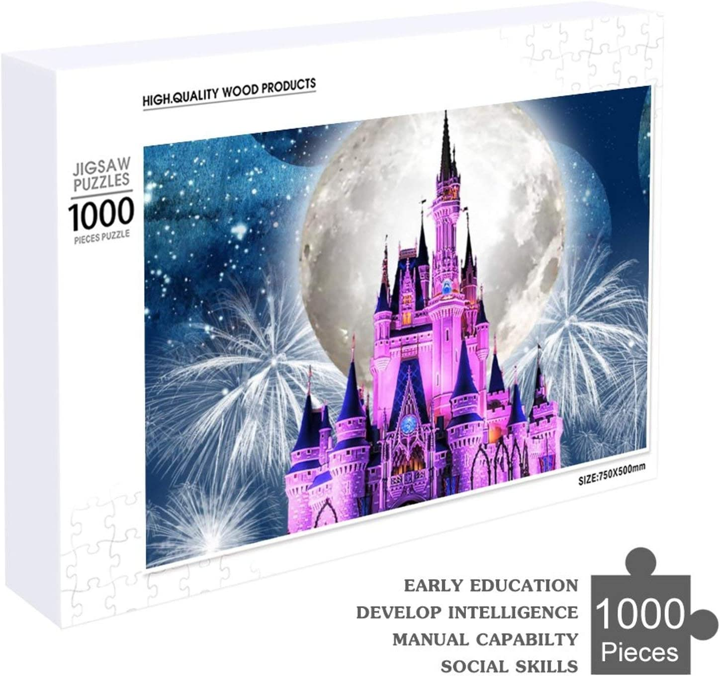 Puzzles for Toddlers Adults 1000 Pieces Purple Castle Puzzles for Teens Family Creative Gift for Home Decor Indoor Fun Game 70cm x 50cm 27.56 x 19.69 inch