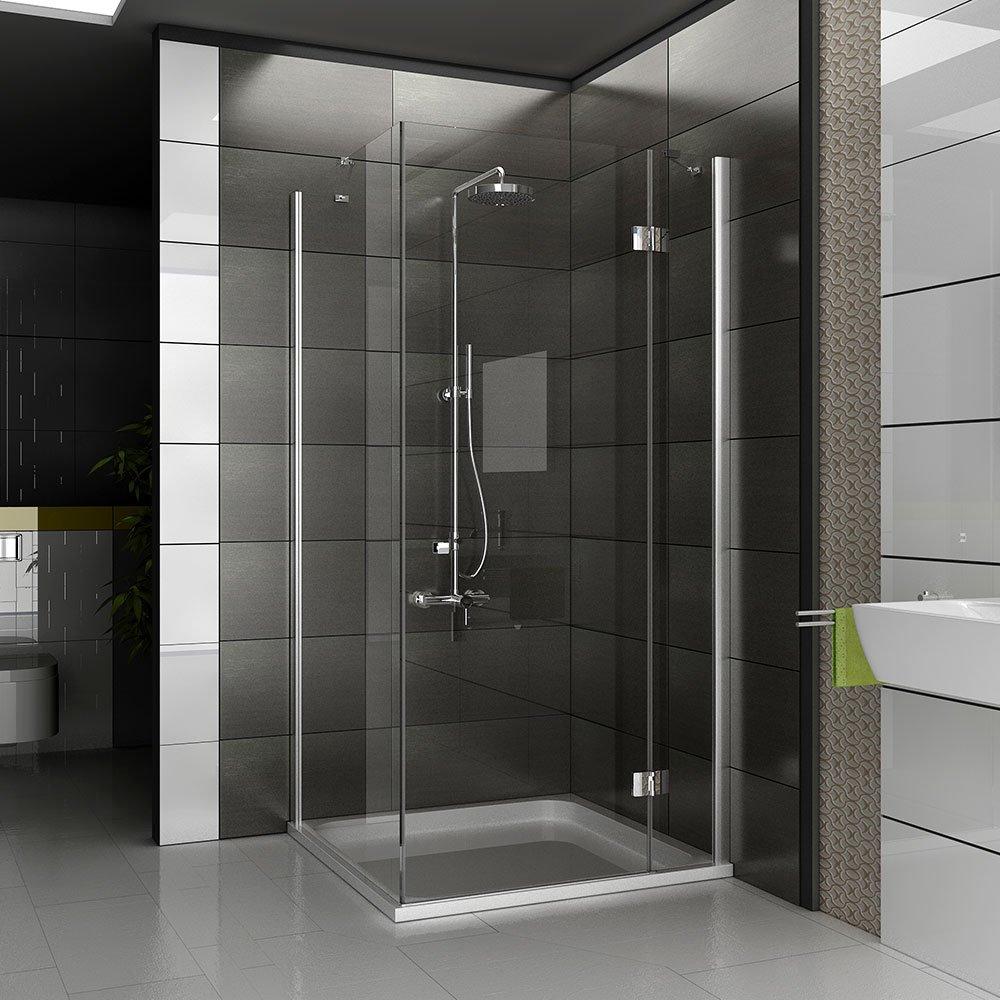 Ducha de esquina mampara de ducha de cuatro-esquina plaza final de ...
