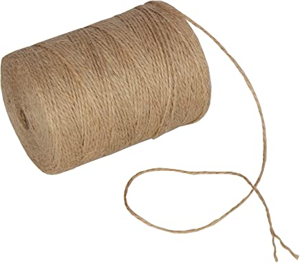 XiangGuanQianYing 100 Feet 6MM Natural Jute Twine Hemp String Christmas Twine String Packing Materials Durable Hemp Twine for Gardening XuRen
