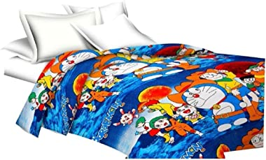 JUST FOR HUMAIRA™ Beautiful Design Cartoon Print Reversible AC Blanket Comforter/Dohar/Quilt for Kids (Single Bed,Blue-Doremo