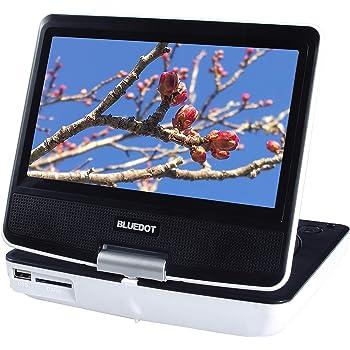 BLUEDOT ポータブルDVDプレーヤー(7インチ1024×600画素/5時間再生/モバイルバッテリー充電) BDP-1719W